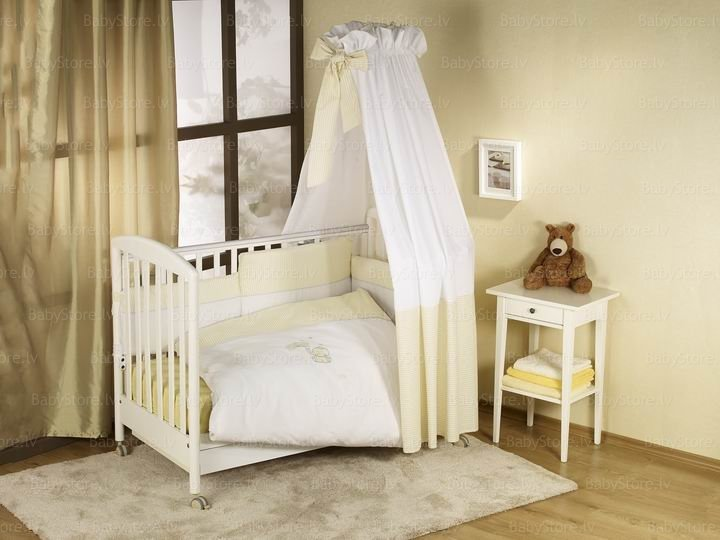 NINO-ESPANA Bērnu gultas veļas kokvilnas komplekts Elefante Ecru 5 Bed Set