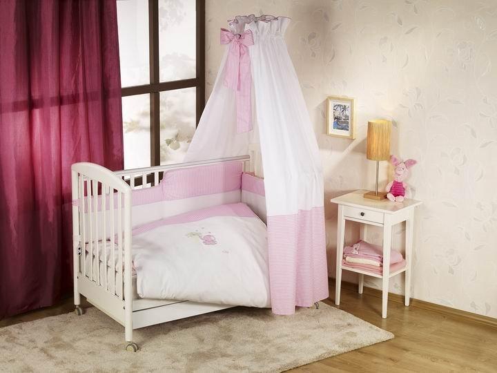 NINO-ESPANA Bērnu gultas veļas kokvilnas komplekts Elefante Pink 3+1