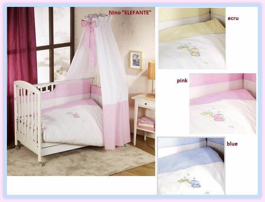 NINO-ESPANA Bērnu gultas veļas kokvilnas komplekts Elefante pink Bed Set 5
