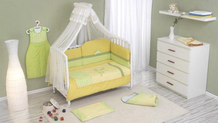 NINO-ESPANA Bērnu gultas veļās kokvilnas komplekts Erizo Yellow  2