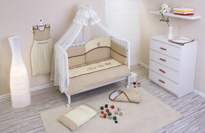 NINO-ESPANA Bērnu gultas veļas kokvilnas komplekts Morada Beige 3