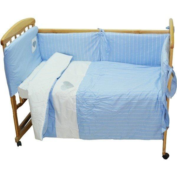 NINO-ESPANA Bērnu gultas veļas komplekts Cuoricini blue 3 plus