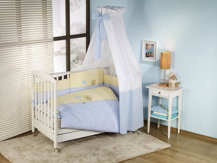NINO-ESPANA Bērnu gultas veļas komplekts Los Amigos Blue 3 plus