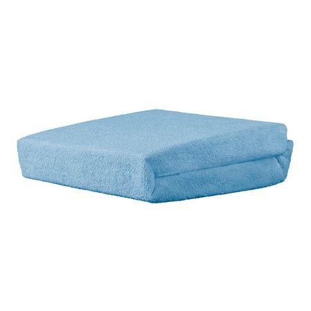 Palags ar gumiju frotē 120 x 60 cm AKUKU blue A1152
