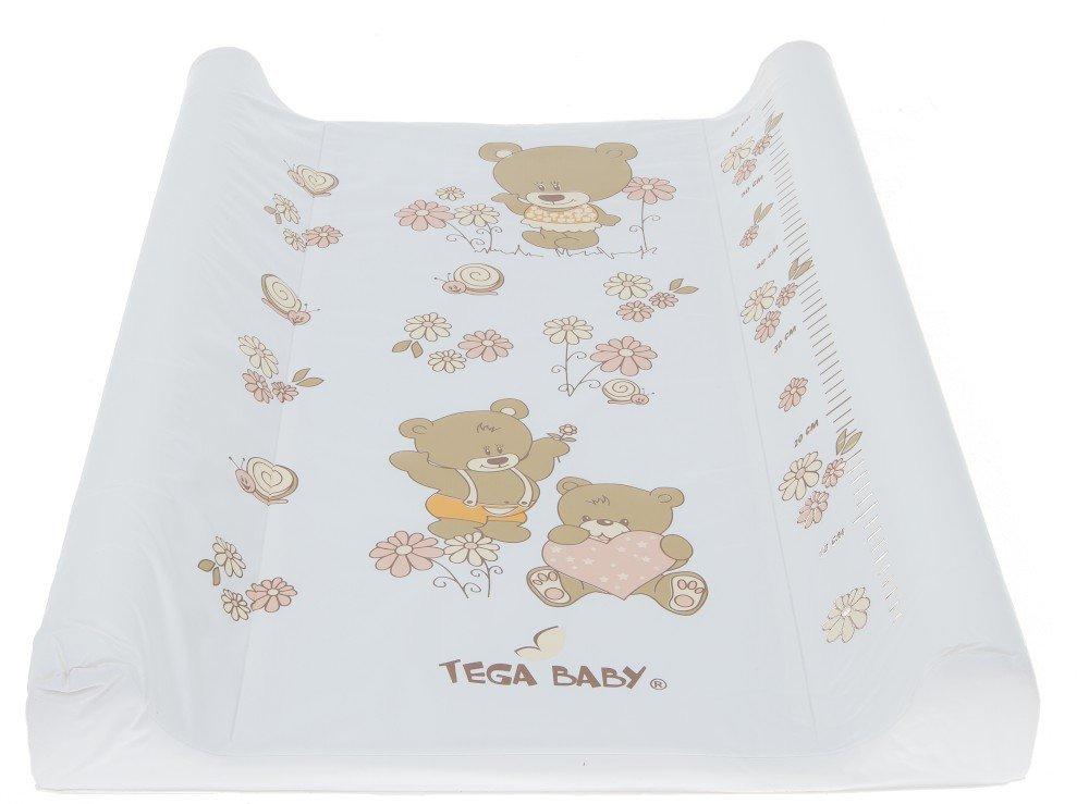 Pārtinamais dēlis 70 cm Tega Baby BEAR white pearl MS-009