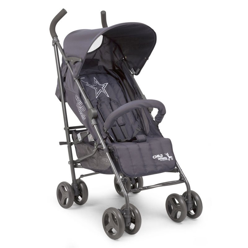 Pastaigu rati CHILDHOME Buggy Multi Pos anthracite superstar