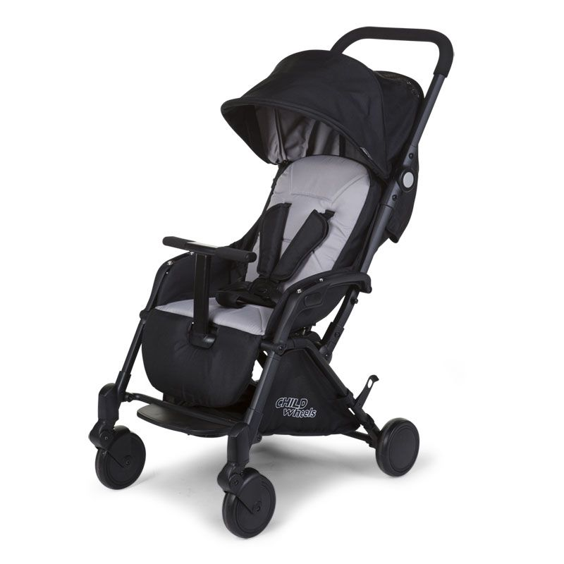 Pastaigu rati CHILDHOME Stroller T-Compact black + RC + MC adapter