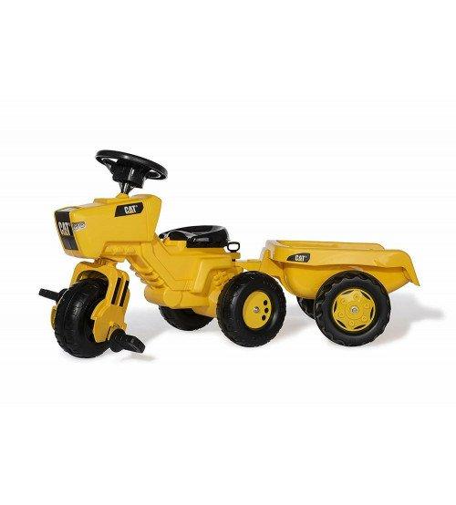 Pedāļu traktors ritenis ar piekabi Rolly Trac Cat (2,5-5 gadiem) 052936 Vācija