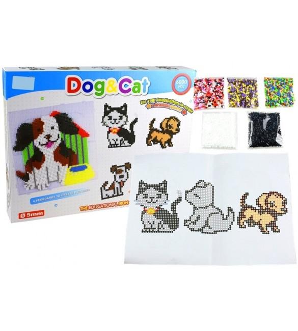 Pērlīšu komplekts mozaīkas izveidošanai LEAN CAT un DOG 32373
