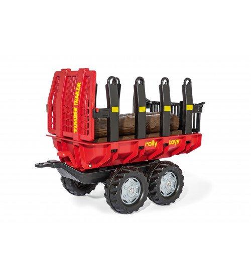 Piekabe traktoriem ar baļķiem Rolly Toys rollyTimber 123254