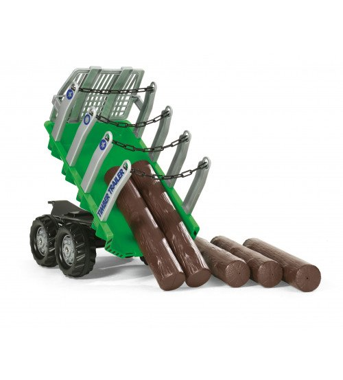 Piekabe traktoriem ar balķiem Rolly Toys rollyTimber Trailer 122158