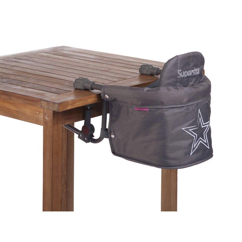 Piekarināmais barošanas krēsls CHILDHOME Table Hanger anthracite superstar