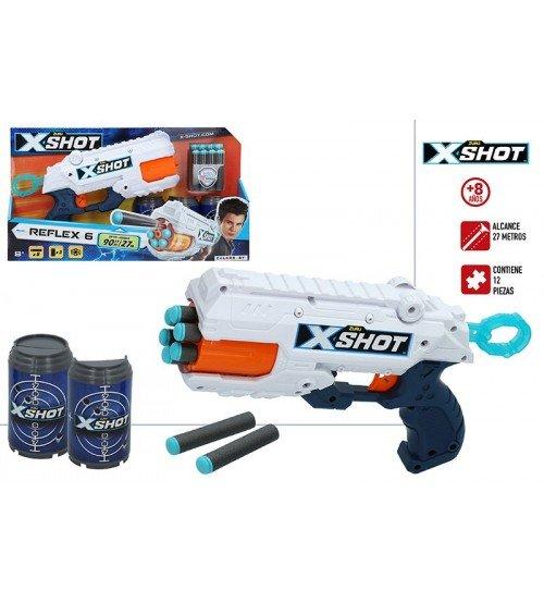 Pistole ar porol. šautriņām līdz 27 m X-Shot Reflex-6 ZURU 8 g+ CB44768