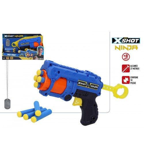 Pistole ar porol. šautriņām līdz 27 mt X-Shot Ninja No rez ZURU 8g+ CB44969