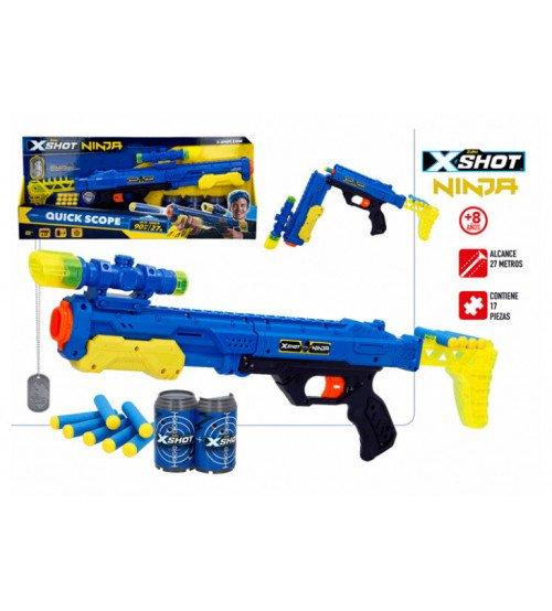 Pistole ar porol. šautriņām līdz 27 mt X-Shot Ninja Quick Scope ZURU 8g+ CB44967