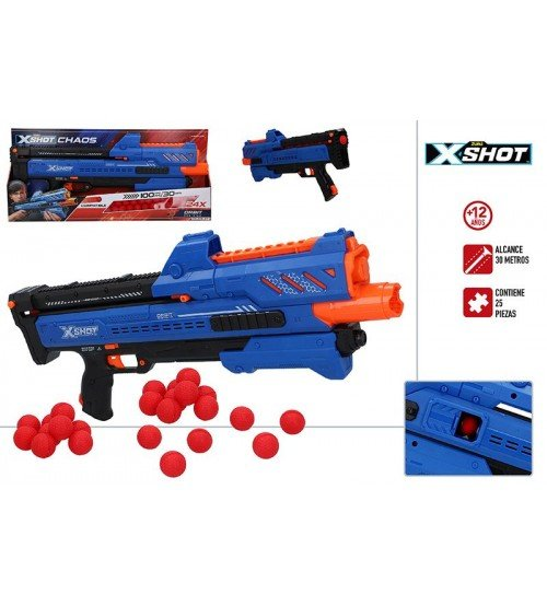 Pistole ar porolona bumbiņām X-Shot Chaos ZURU 14 g+ CB46273