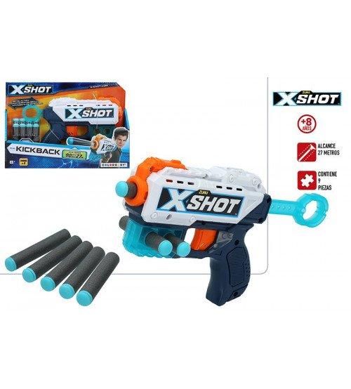 Pistole ar porolona šautriņām X-Shot Kickback ZURU CB44767
