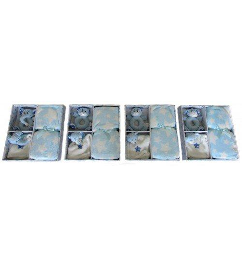 Plīša grabulis ar pledi 80x105 (M2437) zilā krasā 150592-2