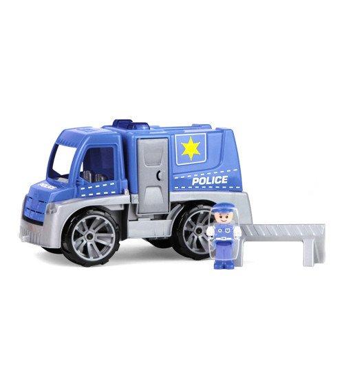 Policijas mašīna ar cilvēciņu un barjeru Truxx 29 cm Čehija L04455 kastē