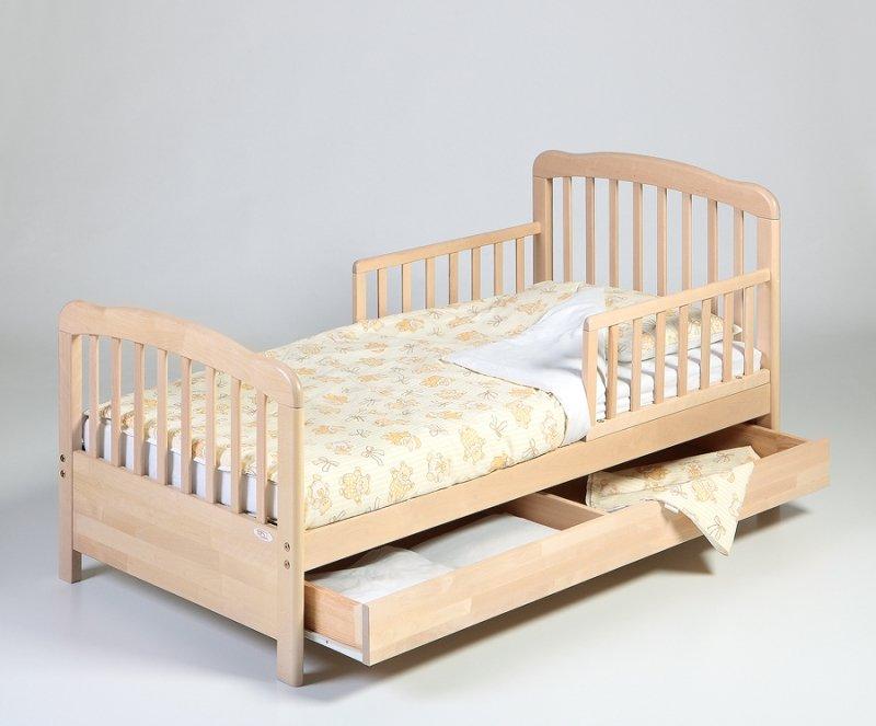 Pusaudžu gulta ar kasti TROLL Monica Natural TBD-MN0163