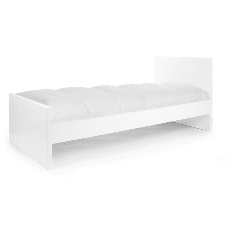 Pusaudžu gulta CHILDHOME Quadro White + Rails