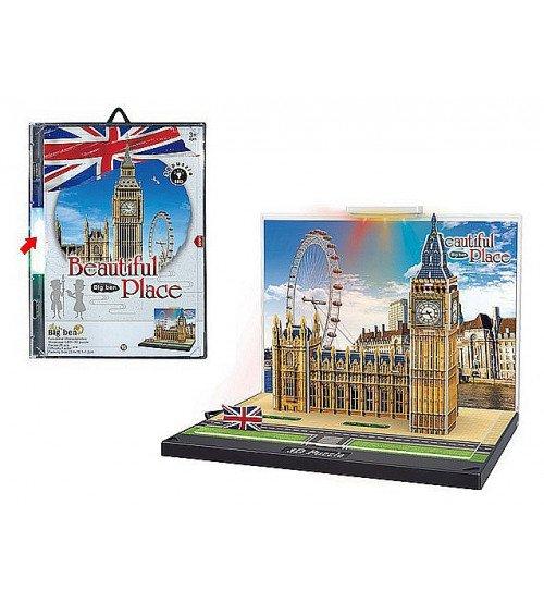 Puzzle 3D ar gaismu Big Ben 23.5x16 cm 492592