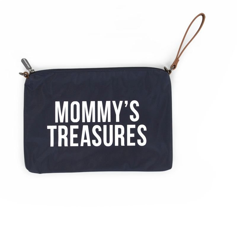 Ratiņu klača soma CHILDHOME Mommy Clutch navy white