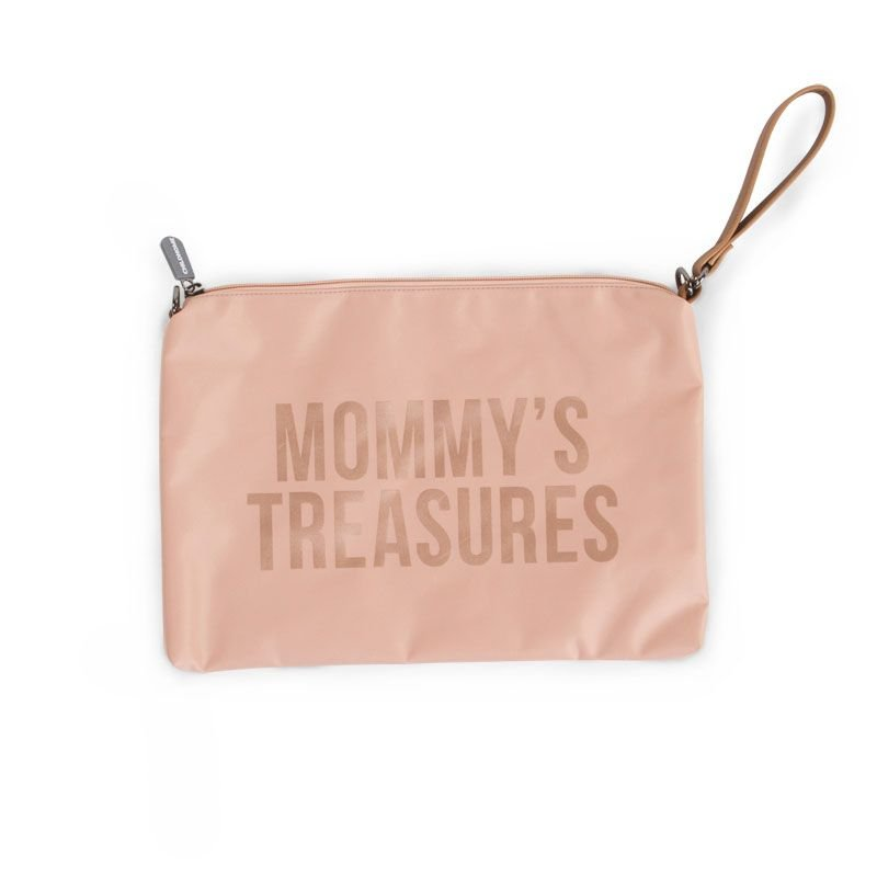 Ratiņu klača soma CHILDHOME Mommy Clutch pink copper