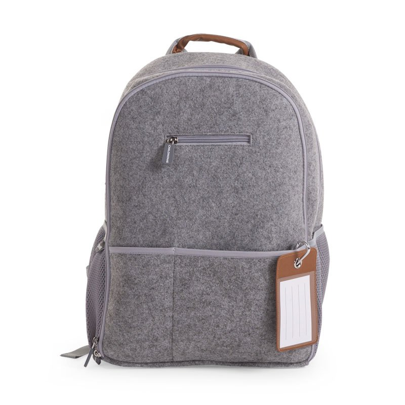 Ratiņu mugursoma CHILDHOME Felt Nursery Backpack grey