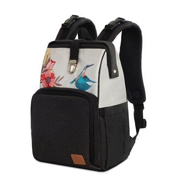 Ratiņu soma-mugursoma Kinderkraft Molly Bird Freedom