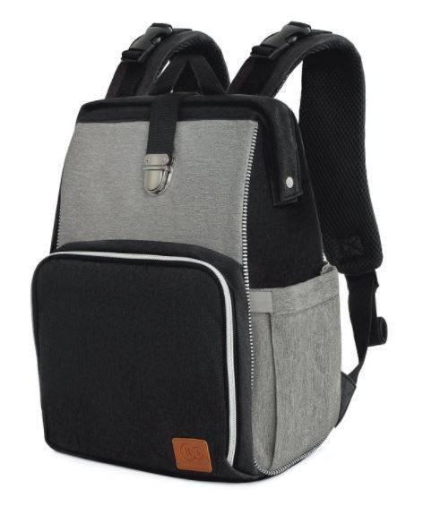 Ratiņu soma-mugursoma Kinderkraft Molly Black