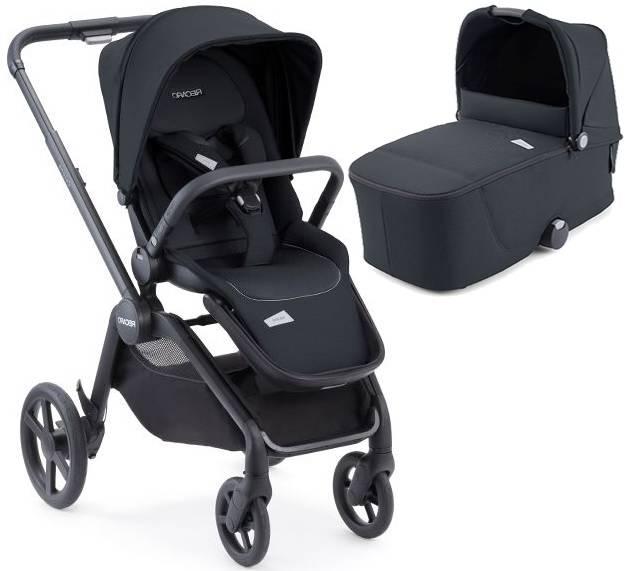 Recaro Celona Prime Mat Black Bērnu rati 2in1