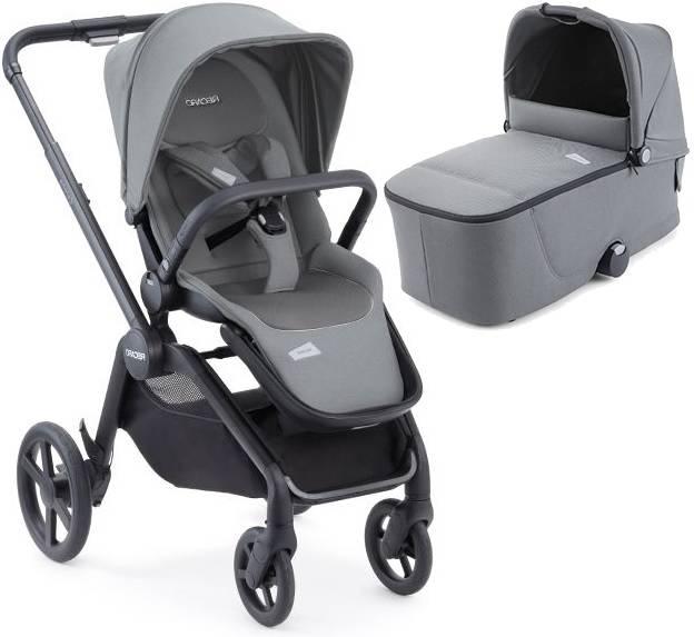 Recaro Celona Prime Silent Grey Bērnu rati 2in1