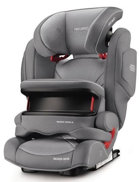 Recaro Monza Nova Is Prime Silent Grey Bērnu autosēdeklis 9-36 kg
