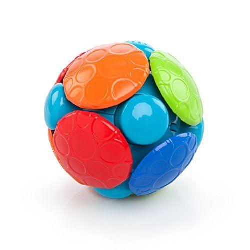Rhino Toys Oball Wobble Bobble Attīstošā rotaļlieta Bumba ar mūziku un vibrāciju