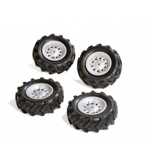Riteņi ar gumijas piepūšamam riepam traktoriem Rolly Toys rollyTrac Air Tyres 4 gab. 409181