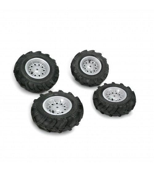Riteņi ar gumijas piepūšamam riepam traktoriem Rolly Toys  rollyTrac Air Tyres 4 gab. 409242