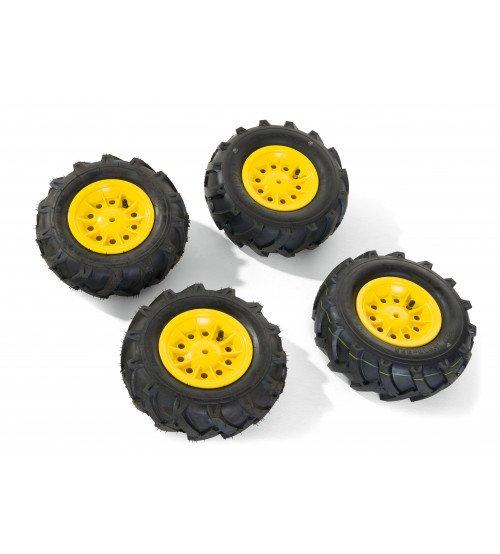 Riteņi ar gumijas piepūšamam riepam traktoriem Rolly Toys rollyTrac Air Tyres 4 gab. 409303