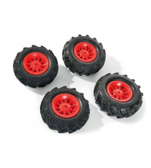 Riteņi ar gumijas piepūšamam riepam traktoriem Rolly Toys rollyTrac Air Tyres 4 gab. 409587