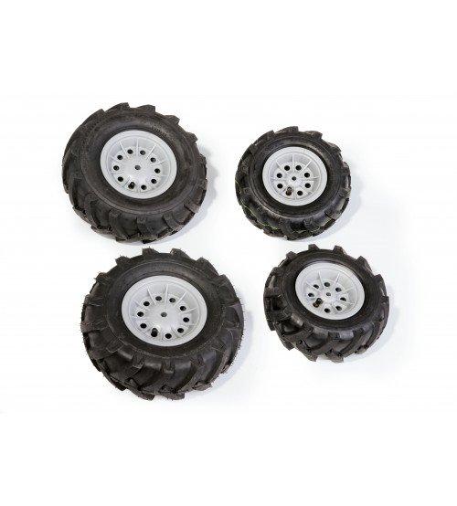 Riteņi ar gumijas piepūšamam riepam traktoriem Rolly Toys rollyTrac Air Tyres 4 gab. 409846