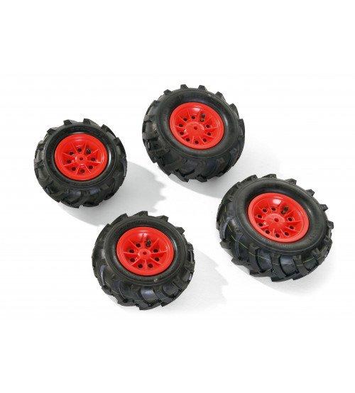 Riteņi ar gumijas piepūšamam riepam traktoriem Rolly Toys rollyTrac Air Tyres 4 gab. 409853
