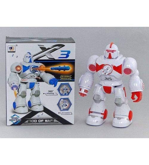 Robots staigojošs ar skaņu un gaismu 26 cm 492516
