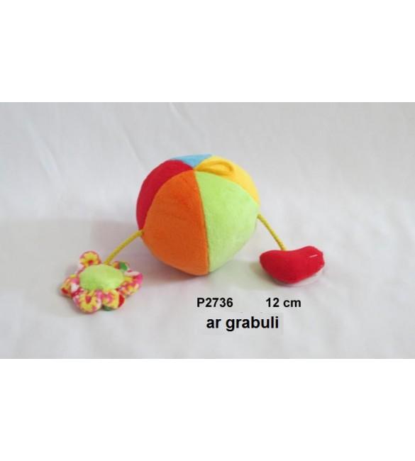 Rotaļlieta ar grabuli Bumba 12 cm SUN DAY P2736