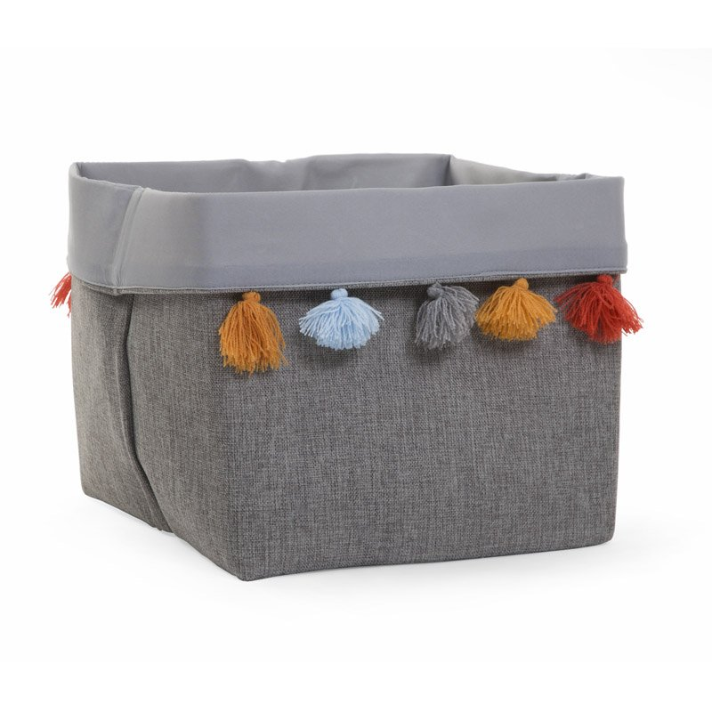 Rotaļlietu kaste 32x32x29 cm CHILDHOME Canvas box dark grey
