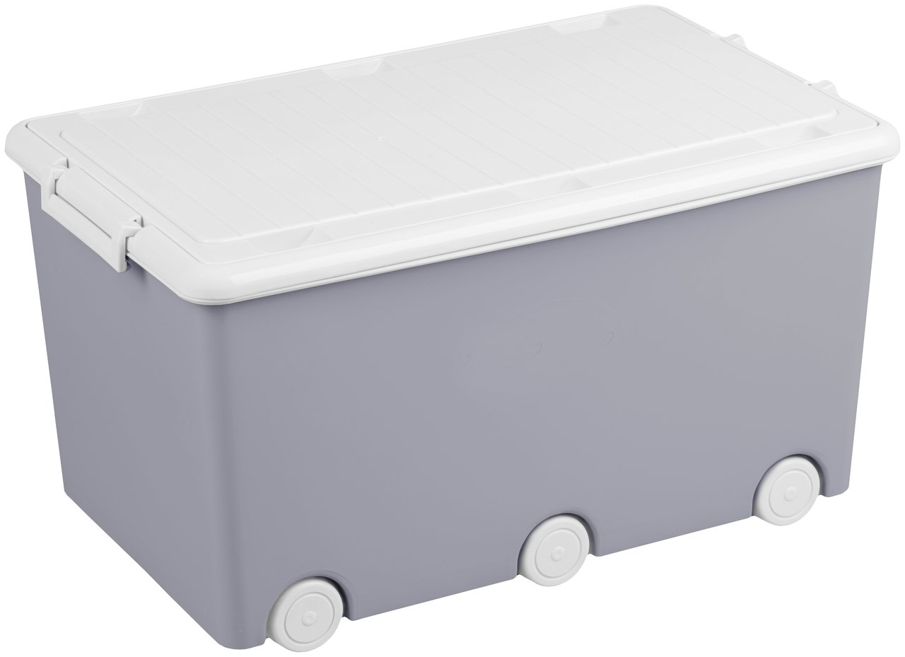 Rotaļlietu kaste 52l TegaBaby GREY OWLS SO-008