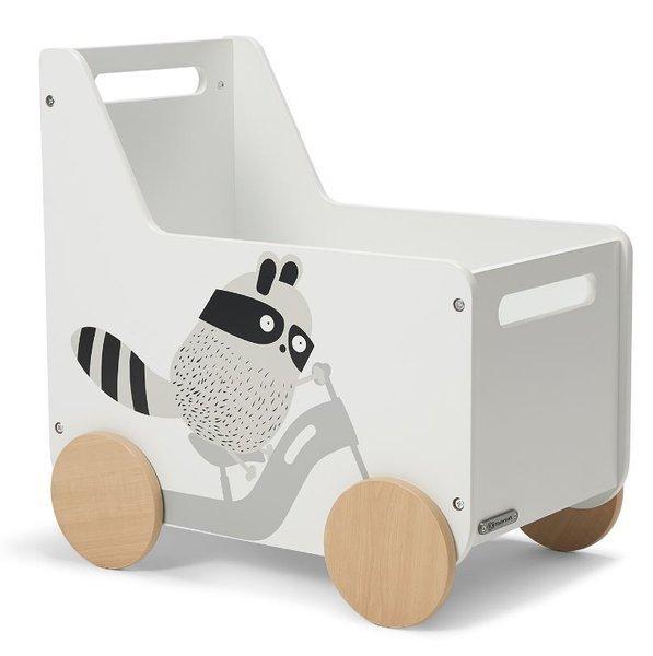 Rotaļlietu koka kaste rotaļlieta Kinderkraft Racoon