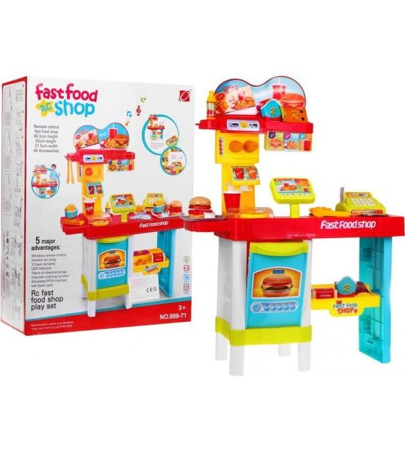 Rotaļu veikals ar aksesuāriem FAST FOOD 889-71