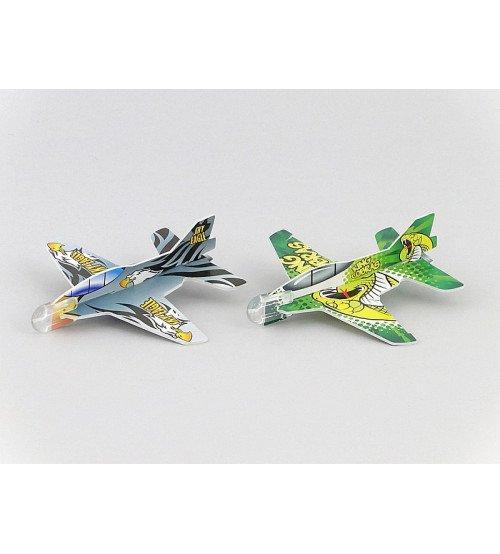 Saliekams kartonu lidmašīnu komplekts (2 gab.) 10 cm 414594 dažādas krāsas