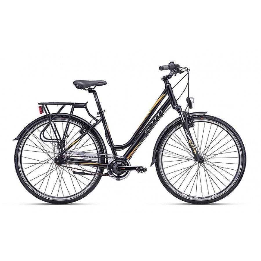 "Sieviešu velosipēds CTM City Amber 2.0 28"" Matte Black Gold"