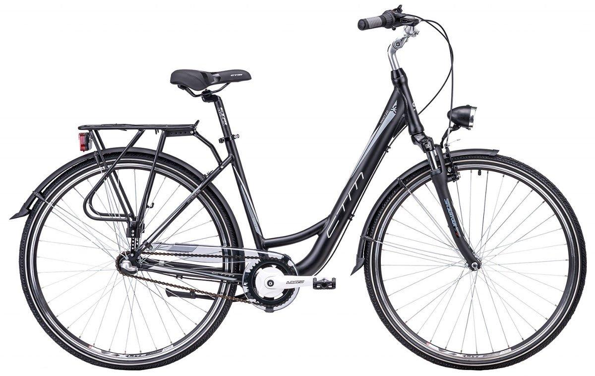 "Sieviešu velosipēds CTM City Nancy 2.0 28"" Black grey"